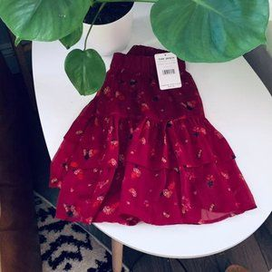 NWT free peolle floral red skirt